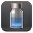 icon of medicine bottle for injection