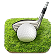 icon of golf ball and golf club