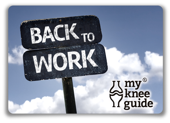 Back to work sign on post