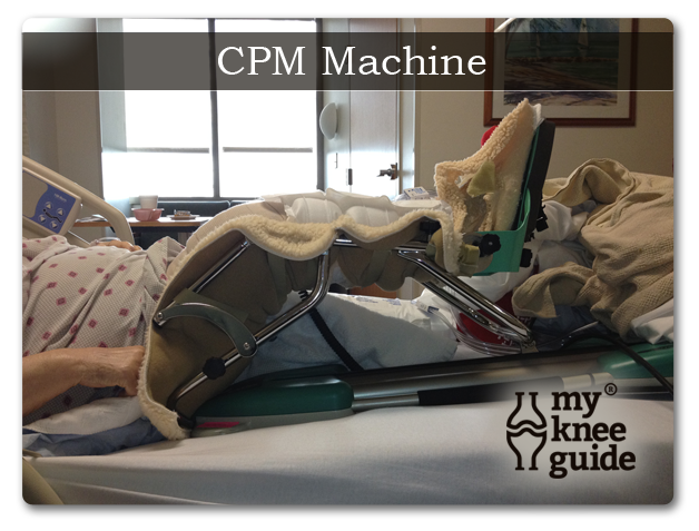 CPM machine after knee replacement