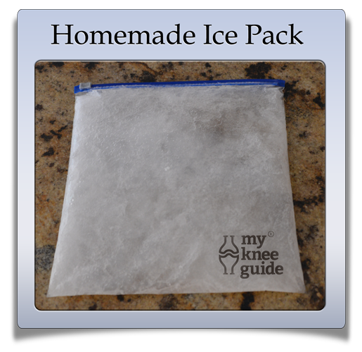 How to make a homemade ice pack